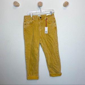 Bdg pax high rise straight leg sun yellow jeans